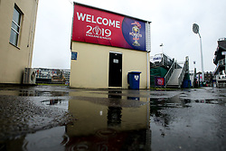 A general view of The County Ground in Bristol as rain delays the start of Pakistan v Sri Lanka in the Cricket World Cup Group Match - Mandatory by-line: Robbie Stephenson/JMP - 07/06/2019 - CRICKET - County Ground - Bristol , England - Pakistan v Sri Lanka - ICC Cricket World Cup 2019 Group Stage