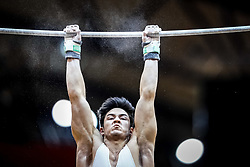 October 29, 2018 - Doha, Qatar - Arthur Mariano of  Brazil   during  High Bar, Team final for Men at the Aspire Dome in Doha, Qatar, Artistic FIG Gymnastics World Championships on October 29, 2018. (Credit Image: © Ulrik Pedersen/NurPhoto via ZUMA Press)
