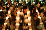 People on Escalator, World Trade Center, Twin Towers, World Financial Center, Manhattan, New York CIty, New York