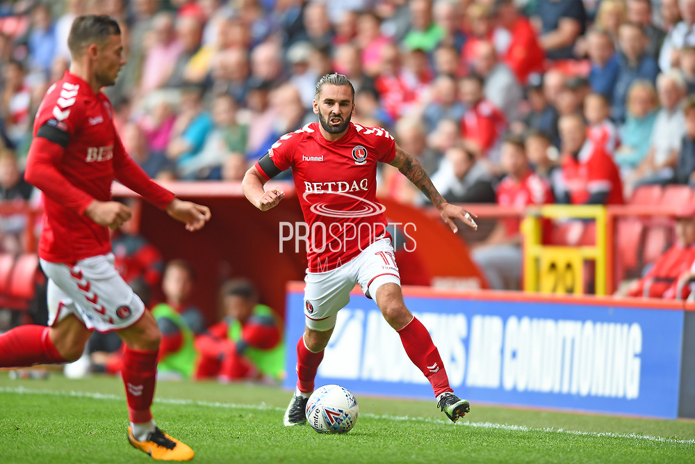 Charlton Athletic midfielder Ricky Holmes (11) in action during the EFL Sky Bet League 1 match between Charlton Athletic and Northampton Town at The Valley, London, England on 19 August 2017. Photo by Jon Bromley.