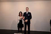 DANIELA SANCHEZ, 'Engagement' exhibition of work by Jennifer Rubell. Stephen Friedman Gallery. London. 7 February 2011. -DO NOT ARCHIVE-© Copyright Photograph by Dafydd Jones. 248 Clapham Rd. London SW9 0PZ. Tel 0207 820 0771. www.dafjones.com.