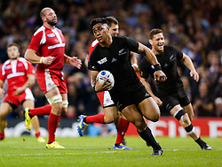 New Zealand replacement Malakai Fekitoa runs in a try - Mandatory byline: Rogan Thomson/JMP - 07966 386802 - 02/10/2015 - RUGBY UNION - Millennium Stadium - Cardiff, Wales - New Zealand v Georgia - Rugby World Cup 2015 Pool C.