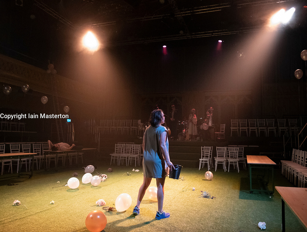 Edinburgh, Scotland, UK; 3 August, 2018. Midsummer play preview at The Hub festival theatre as part of the Edinburgh International Festival.