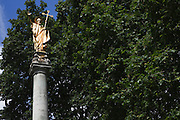 """St Paul's Cross (alternative spellings - """"Powles Crosse"""") was a preaching cross and open air pulpit in the grounds of Old St Paul's Cathedral, City of London."""