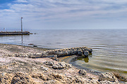Bombay Beach, Niland, CA.  shallow, saline, endorheic rift lake, located directly on the San Andreas Fault, California's Imperial and Coachella valleys