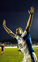 Photo: Leigh Quinnell.<br /> Nuneaton Borough v Middlesbrough. The FA Cup.<br /> 07/01/2006. Gez Murphy celebrates after scoring a penalty for Nuneaton.