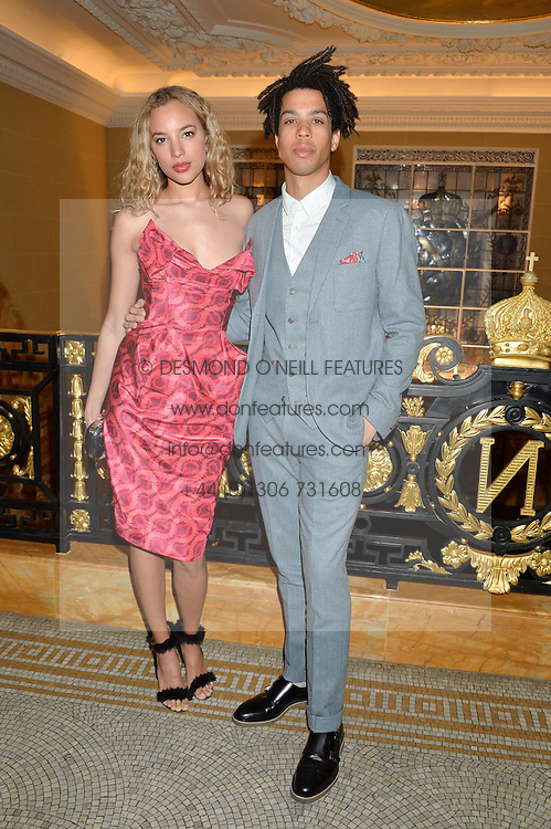 PHOEBE COLLINGS JAMES and SEAN FRANK at the Lancôme BAFTA Dinner held at The Cafe Royal, Regent's Street, London on 6th February 2015.