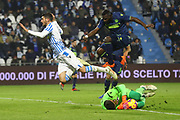 Foto LaPresse/Filippo Rubin<br /> 26/12/2018 Ferrara (Italia)<br /> Sport Calcio<br /> Spal - Udinese - Campionato di calcio Serie A 2018/2019 - Stadio &quot;Paolo Mazza&quot;<br /> Nella foto: MATTIA VALOTI (SPAL)<br /> <br /> Photo LaPresse/Filippo Rubin<br /> December 26, 2018 Ferrara (Italy)<br /> Sport Soccer<br /> Spal vs Udinese - Italian Football Championship League A 2018/2019 - &quot;Paolo Mazza&quot; Stadium <br /> In the pic: MATTIA VALOTI (SPAL)