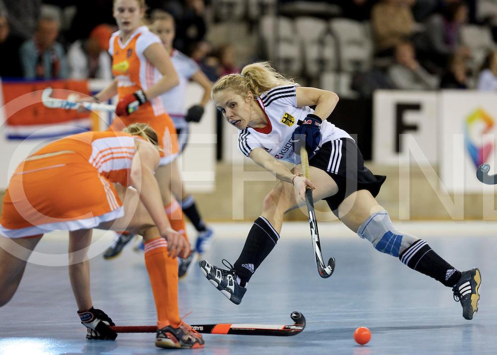 Prague - EuroHockey Indoor Championship (W) 2014<br /> 07 NED v GER (Pool B )<br /> foto: Lydia Haase..<br /> FFU PRESS AGENCY COPYRIGHT FRANK UIJLENBROEK