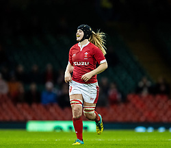 Bethan Lewis of Wales<br /> <br /> Photographer Simon King/Replay Images<br /> <br /> Friendly - Wales v Barbarians - Saturday 30th November 2019 - Principality Stadium - Cardiff<br /> <br /> World Copyright © Replay Images . All rights reserved. info@replayimages.co.uk - http://replayimages.co.uk