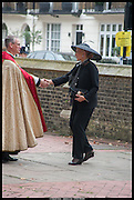 PRINCESS MICHAEL OF KENT, Memorial service for Mark Shand.  . St. Paul's Knightsbridge. September 11 2014.