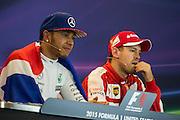 October 23-25, 2015: United States GP 2015: Lewis Hamilton (GBR), Mercedes, Sebastian Vettel (GER), Ferrari