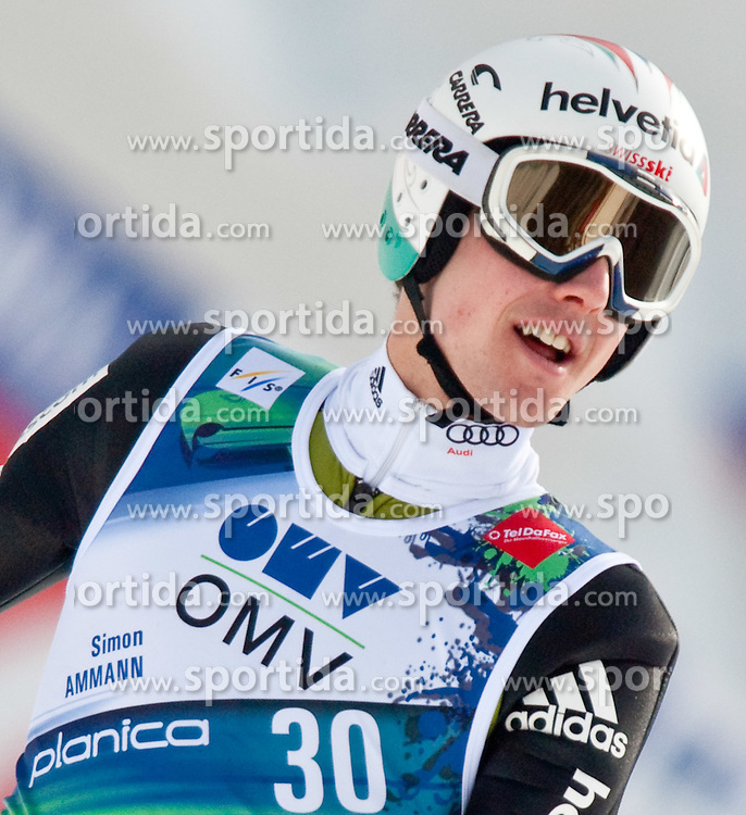 20.03.2010, Planica, Kranjska Gora, SLO, FIS SKI Flying World Championships 2010, Flying Hill Individual 3rd Round, im Bild Simon Ammann, ( SUI, #30 ), Weltmeister Ski Flug 2010, EXPA Pictures © 2010, PhotoCredit: EXPA/ J. Groder / SPORTIDA PHOTO AGENCY