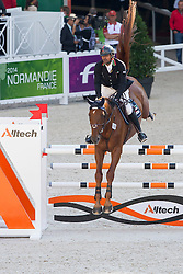 Mohammed Al Kumaiti, (UAE), Pacha Du Fort - Team & Individual Competition Jumping Speed - Alltech FEI World Equestrian Games™ 2014 - Normandy, France.<br /> © Hippo Foto Team - Leanjo De Koster<br /> 02-09-14