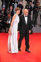 Micaela Ramazzotti and Paolo Virzi at the premiere of the film The Leisure Seeker (Ella & John) at the 74th Venice Film Festival, Sala Grande on Sunday 3 September 2017, Venice Lido, Italy.