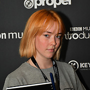 Press team at AIM Independent Music Awards at the Roundhouse on 3 September 2019, Camden Town, London, UK.