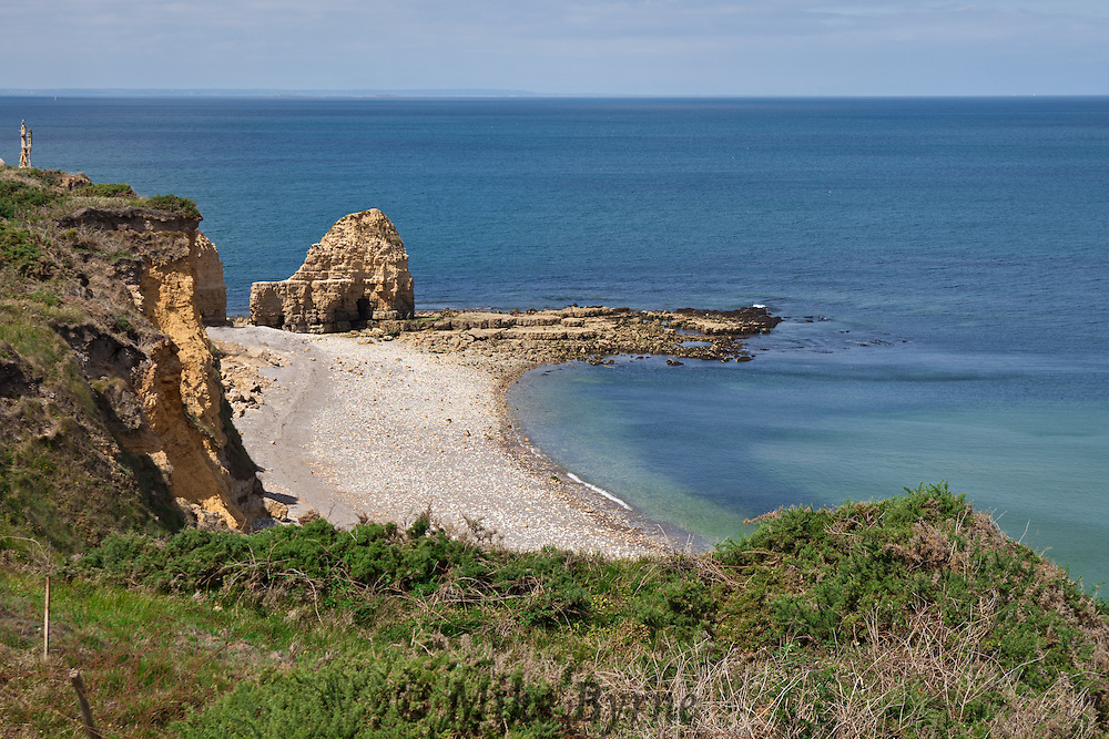 Point du Hoc, Normandy, France, 6 km west of Omaha Beach, and site of the US Ranger's attack early on D-Day.