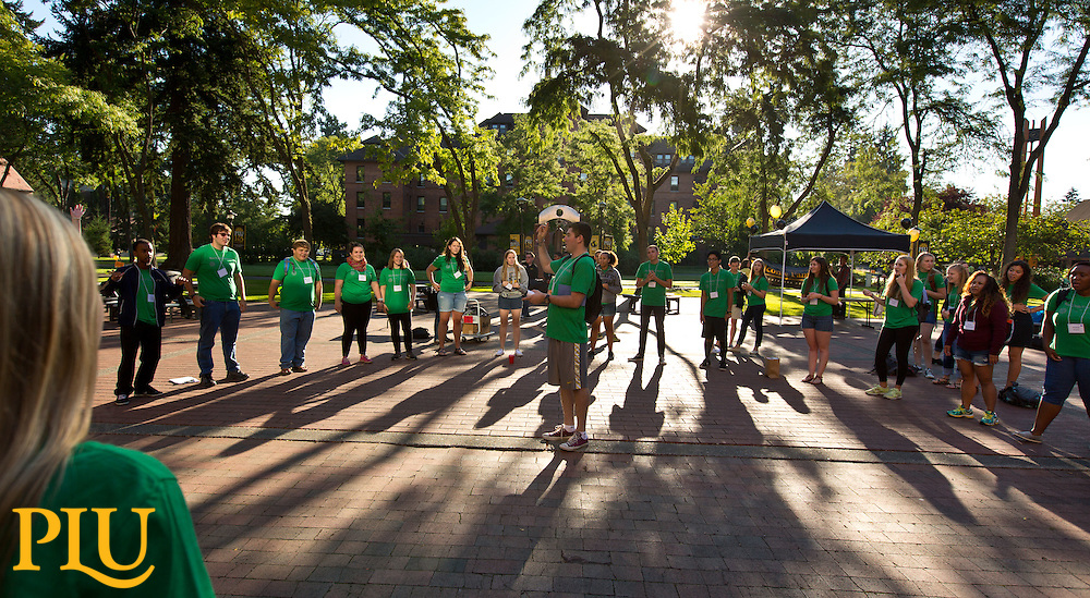 Move-in and orientation at PLU on Thursday, Sept. 4, 2014. (Photo/John Froschauer)