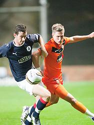 Falkirk's Kierran Duffie & Barry Douglas..Half-time. Dundee Utd 0 v 0 Falkirk. Scottish Communities League Cup, 25/10/2011..Pic © Michael Schofield.