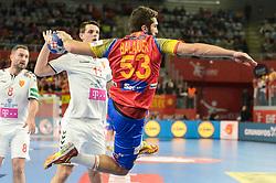 Balague David of Spain during handball match between National teams of Macedonia and Spain on Day 4 in Main Round of Men's EHF EURO 2018, on January 21, 2018 in Arena Varazdin, Varazdin, Croatia. Photo by Mario Horvat / Sportida