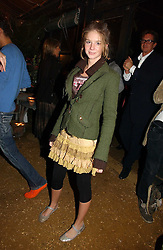 RUBY BOGLIONE at a party to celebrate the publication on 'A Year in My Kitchen' by Skye Gyngell held at The Petersham Nurseries, Petesham, Surrey on 19th October 2006.<br />