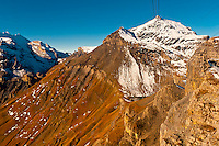 Looking to Piz Gloria, atop the Schilthorn, Swiss Alps, Canton Bern, Switzerland