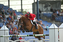 Karaevli Omer, (TUR), Dadjak ter Puttenen<br /> Team Competition round 1 and Individual Competition round 1<br /> FEI European Championships - Aachen 2015<br /> © Hippo Foto - Stefan Lafrentz<br /> 19/08/15