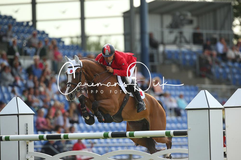 Karaevli Omer, (TUR), Dadjak ter Puttenen<br /> Team Competition round 1 and Individual Competition round 1<br /> FEI European Championships - Aachen 2015<br /> © Hippo Foto - Stefan Lafrentz<br /> 19/08/15