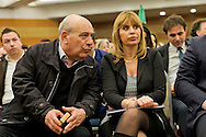 Roma, 29 Marzo 2015<br /> Convention di Forza Italia: Roma l'Italia e l'Europa che vogliamo. Ex senatore di Forza Italia  Domenico Gramazio,Alessandra Mussolini, eurodeputato di Forza Italia. <br /> Rome, March 29, 2015<br /> Convention  of Forza Italy: Rome the Italy and Europe that we want. Former senator of Forza Italian Domenico Gramazio, Alessandra Mussolini, MEP Forza Italy