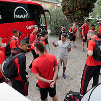 Arrivo squadra Bayern Basket