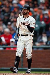 SAN FRANCISCO, CA - MAY 26: Steven Duggar #6 of the San Francisco Giants reacts after striking out against the Arizona Diamondbacks during the fifth inning at Oracle Park on May 26, 2019 in San Francisco, California. The Arizona Diamondbacks defeated the San Francisco Giants 6-2. (Photo by Jason O. Watson/Getty Images) *** Local Caption *** Steven Duggar