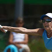 Heide Orth, Germany, in action in the 65 Womens Singles Final during the 2009 ITF Super-Seniors World Team and Individual Championships at Perth, Western Australia, between 2-15th November, 2009