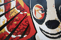 DETAIL: Hand Painted on Acrylic on Hardboard