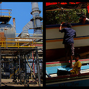 DAILY VENEZUELA II / VENEZUELA COTIDIANA II<br /> Photography by Aaron Sosa <br /> <br /> Left: Jose Cryogenic, Jose, Anzoategui State - Venezuela 2007 / Criogenico de Jose. Jose, Estado Anzoategui / Venezuela 2007<br /> <br /> Right: Guiria, Sucre State - Venezuela 2006 / Guiria, Estado Sucre - Venezuela 2006<br /> (Copyright © Aaron Sosa)