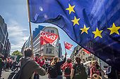 European trade unions march in Brussels