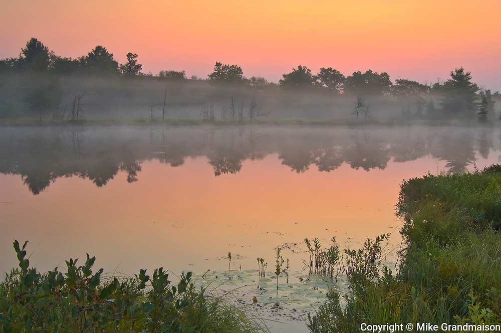 sunrise and fog at Highland Pond<br /> Torrance Barrens Dark-Sky Preserve<br />Ontario<br />Canada
