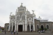 CARTAGO, COSTA RICA - JUNE 17, 2012: Unidentified people visit Basilica de Nuestra Senora de los Angeles in Cartago in Costa Rica.