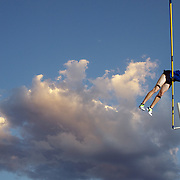Tim Mack, USA, in action during the Men's Pole Vault in which he finished fourth at the Sydney Track Classic 2009 held at Sydney Olympic Park Athletics Centre, Sydney, Australia on February 28, 2009.  Photo Tim Clayton