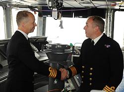 HMS Queen Elizabeth, Rosyth,24-5-2016        <br /> <br /> Cpt Kid and Cpt Petitt<br /> <br /> (c) David Wardle | Edinburgh Elite media