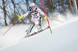 "Melanie Meillard (SUI) during FIS Alpine Ski World Cup 2016/17 Ladies Slalom race named ""Snow Queen Trophy 2017"", on January 3, 2017 in Course Crveni Spust at Sljeme hill, Zagreb, Croatia. Photo by Žiga Zupan / Sportida"