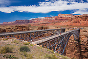 The Navajo Bridges over the Colorado River and Marble Canyon in northern Arizona.