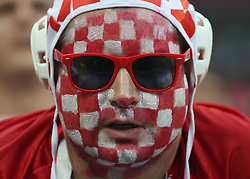 MOSCOW, July 11, 2018  A fan of Croatia is seen prior to the 2018 FIFA World Cup semi-final match between England and Croatia in Moscow, Russia, July 11, 2018. (Credit Image: © Cao Can/Xinhua via ZUMA Wire)