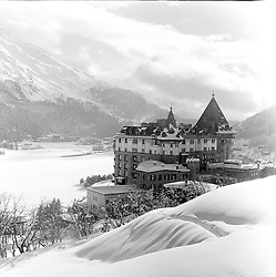 The Palace Hotel,  St.Moritz, Switzerland in February 1960.
