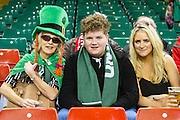 Ireland fans during the Rugby World Cup Pool D match between Ireland and Canada at Millenium Stadium, Cardiff, Wales on 19 September 2015. Photo by Shane Healey.