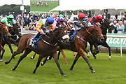 STARLIGHT ROMANCE (10) ridden by jockey Paul Hanagan and trained by Richard Fahey winning The Irish Thoroughbred Marketing Stakes over 7f (£15,000) during the Mid Summer Raceday at York Racecourse, York, United Kingdom on 15 June 2018. Picture by Mick Atkins.
