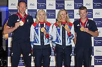 LONDON - SEPTEMBER 05: David Smith; Pamela Relph; Naomi Riches; James Roe attended the Paralympic Ball 2012, Grosvenor House Hotel, London, UK. September 05, 2012. (Photo by Richard Goldschmidt)