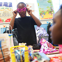 Lauren Wood   Buy at photos.djournal.com<br /> Lennox White rocks the pink heart glasses that he and his classmates got in their bag of valentines during the Valentine's Day party Friday afternoon in Carol Elliott's first grade classroom.