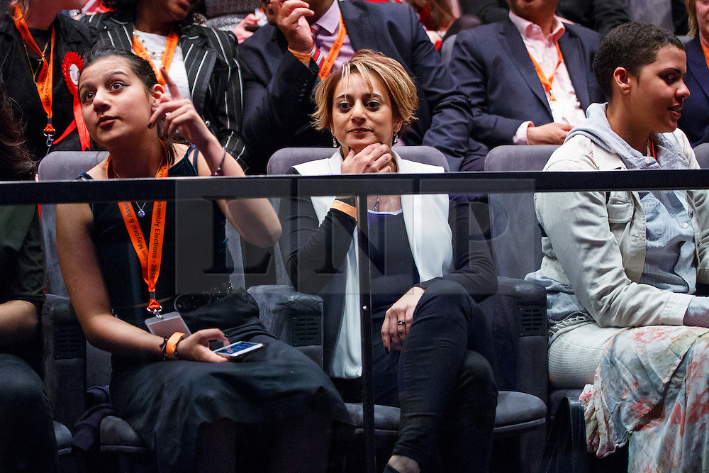 © Licensed to London News Pictures. 07/05/2016. London, UK. SAADIYA KHAN watching London Mayoral candidates reacting to announcement of the election results at City Hall in London on Saturday, 7 May 2016. Labour MP Sadiq Khan has declared his victory and accused his Conservative counterpart, Zac Goldsmith MP of using underhand tactics during the campaign. Photo credit: Tolga Akmen/LNP