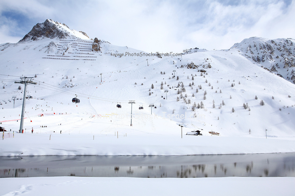 Tignes, France, Ski resort snowscape