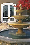 Fountain at Silver Oak Cellars, Alexander Valley, Sonoma County, California